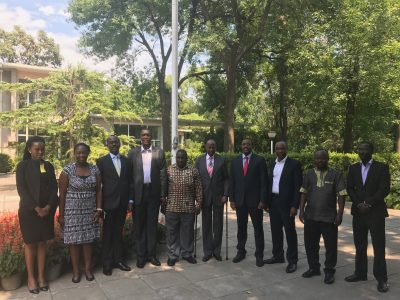 The technical team from Uganda and Embassy staff