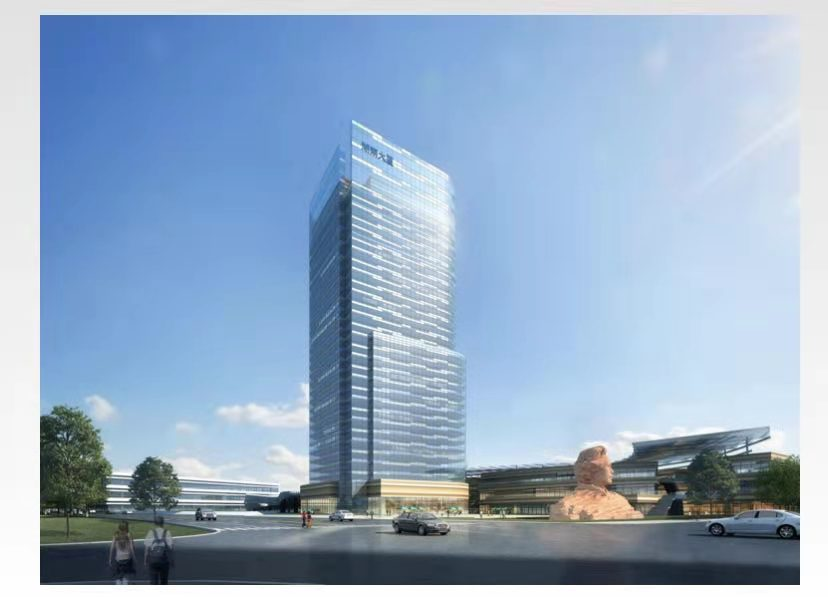 Proposed Hunan Towers with the statue of Mao Zedong